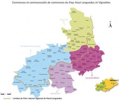 Carte du Pays Haut Languedoc et Vignobles 2019